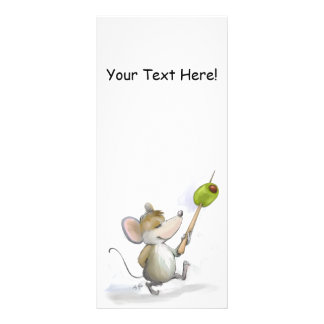 Merry Mouse Moe with Olive  Bookmark Rack Card