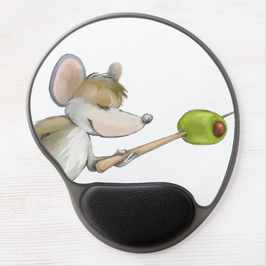Merry Mouse Moe with Olive Portrait Gel Mousepad