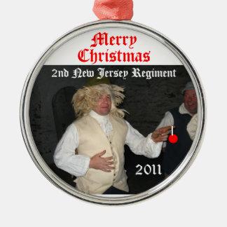 Merry Mozart Christmas Round Metal Christmas Ornament