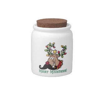 Merry Mustache Candy Jar