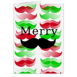 Merry Mustache Card