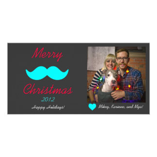 Merry Mustache Christmas Photo Cards