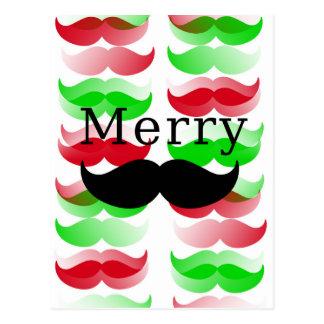 Merry Mustache Postcard