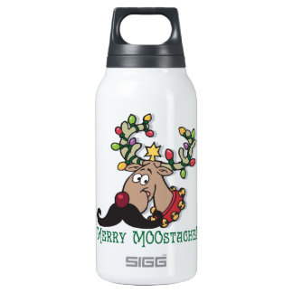 Merry Mustache Thermos Bottle