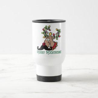 Merry Mustache Travel Mug