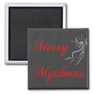 Merry Mythmas 2 Inch Square Magnet