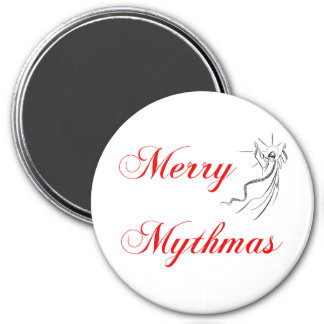 Merry Mythmas 3 Inch Round Magnet