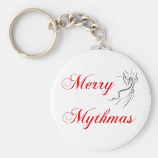 Merry Mythmas Basic Round Button Keychain