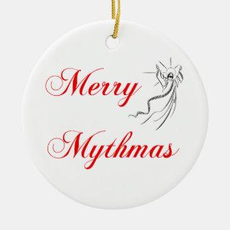 Merry Mythmas Ceramic Ornament