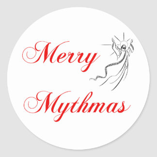 Merry Mythmas Classic Round Sticker