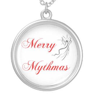 Merry Mythmas Round Pendant Necklace