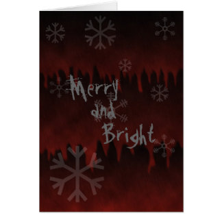 Merry N Bright Snowflake In Hell Holiday Card