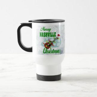 Merry Nashville Christmas Stainless Travel Mug