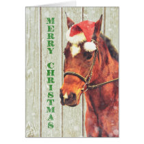 MERRY NEIGH 5x7 Greeting Card