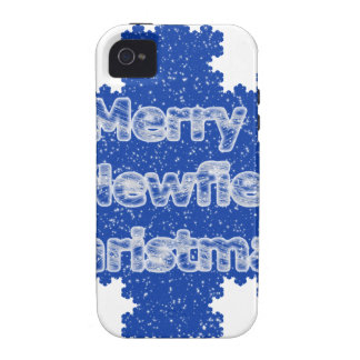 Merry Newfie Christmas Case-Mate iPhone 4 Cases