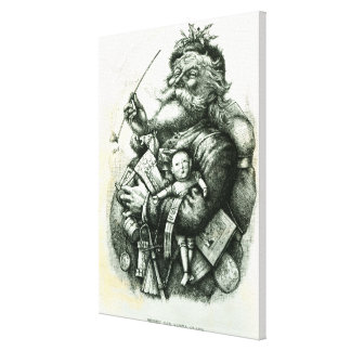 Merry Old Santa Claus Stretched Canvas Print