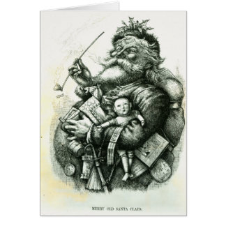 Merry Old Santa Claus Greeting Cards