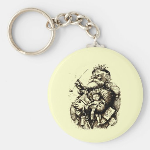 Merry Old Santa Claus Key Chains