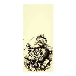 Merry Old Santa Claus Rack Card Design
