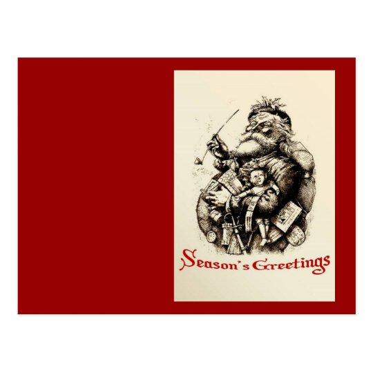 Merry Old Santa Claus Season's Greetings Postcard