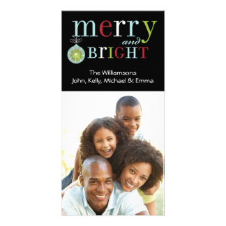 Merry Ornament Black Picture Card