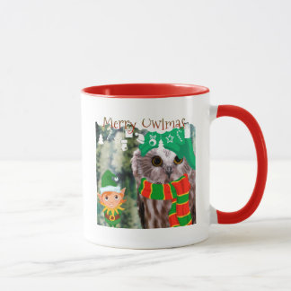 Merry Owlmas Holiday Gift Mug