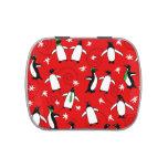 Merry Penguins Candy Tin