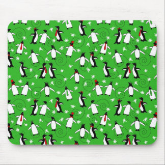 Merry Penguins Mouse Pad