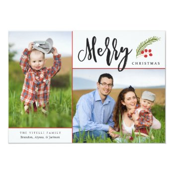 Merry   Photo Holiday Card by Orabella at Zazzle