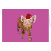 Merry Piggy Christmas Card