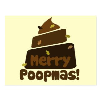 Merry POOPmas Postcard