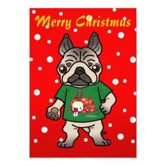 Merry Pug 5x7 Paper Invitation Card
