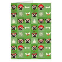 Merry Pug Christmas Card