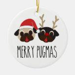 Merry Pugmas Christmas Ornament