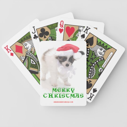 MERRY PUPPY CHRISTMAS BICYCLE PLAYING CARDS