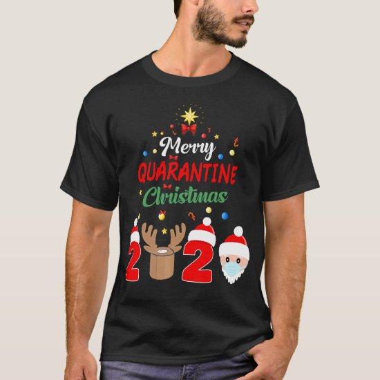 Merry Quarantine Christmas 2020 Xmas Pajamas T-Shirt