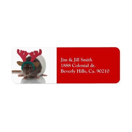 Merry Ratmas Label