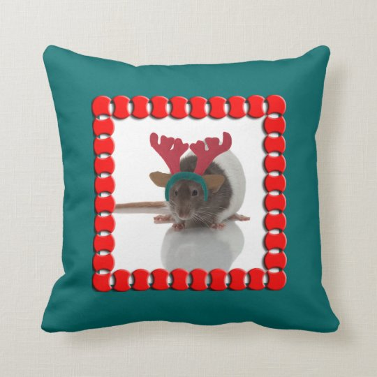 Merry Ratmas Throw Pillow
