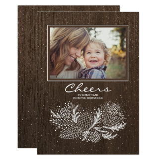 Merry Rustic Holiday Photo Card