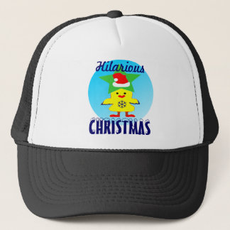 ♫♥Merry Santa Chicken Hilarious Trucker Hat♥♪ Trucker Hat