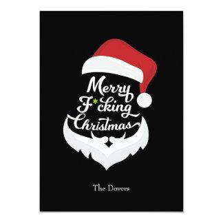 Merry Santa Christmas Party Invitation