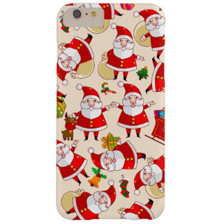 Merry Santa Christmas Red Gold iPhone 6 Plus Case
