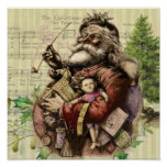 Merry Santa Claus and The Christmas Tree Poster