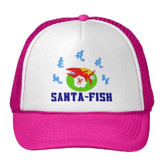 ♫♥Merry Santa-Fish Hilarious Trucker Hat♥♪ Trucker Hat