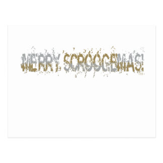 Merry Scroogemas, Silver and Gold Postcard