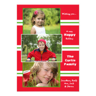 Merry Sentiments Holiday Photo Card