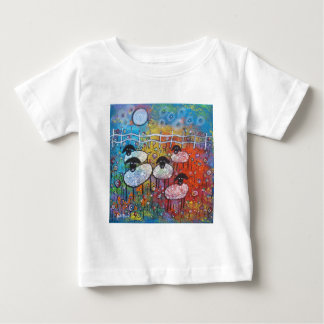 Merry Sheep In The Flowers Tee Shirt