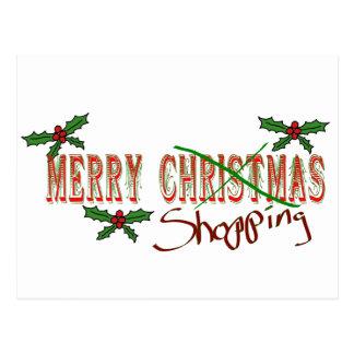 Merry Shopping Postcard