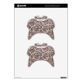 MERRY SILVER GLITTER SPARKLES SHINY PARTY TEXTURES XBOX 360 CONTROLLER SKIN