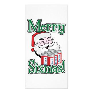 Merry Sixmas! Santa Loves A Six Pack! Photo Greeting Card